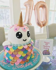 Narwhal- Unicorn of the Sea Birthday Party Ideas | Photo 1 of 8