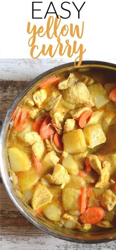 I've had an ongoing love affair with Thai yellow curry for many years now, and I've finally figured out how to duplicate amazing restaurant quality yellow curry at home. Since I use a store bought Laksa Soup Recipes, Curry Recipes, Asian Recipes, Ethnic Recipes, Thai Yellow Chicken Curry, Yellow Curry Recipe, Curry Stew, Cooking Jasmine Rice, Coconut Curry Soup