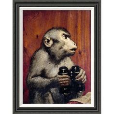 Global Gallery 'The Critic' by Gabriel Von Max Framed Painting Print Size:
