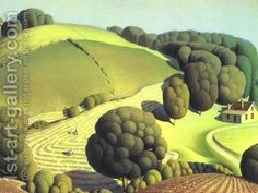 Shop Regionalism landscape: Young Corn - Grant Wood Postcard created by FineArtMuseum. Personalize it with photos & text or purchase as is! Artist Grants, Sand Crafts, Oil Painting Reproductions, Arts And Crafts Movement, Vintage Artwork, Art Plastique, Best Artist, Wood Wall Art, A4 Poster