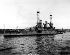 19-N-13573: USS Michigan (BB-27). In New York Harbor, during the Naval Review, October 1912. Photograph from the Bureau of Ships Collection in the U.S. National Archives.