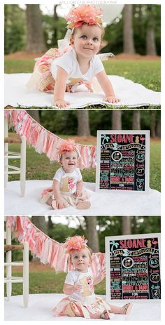 Sloane's one year session and cake smash, Farmville NC, Will Greene Photography