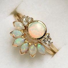 14kt Gold Opal Caribbean Sunrise Ring