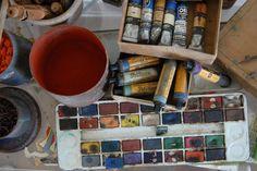 Casa Licini i colori usati da Licini #marcafermana #montevidoncorrado #fermo #marche