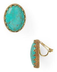 Lauren Ralph Lauren Color Bazaar Textured Oval Clip Earrings   Bloomingdale's