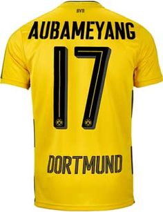15e610ffbdef 2017 18 Puma BVB Aubameyang Home Jersey. Shop for yours from www.soccerpro
