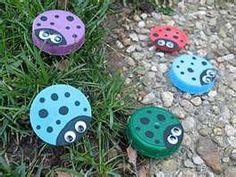 Ladybug lid craft - could use spaghetti jar lids