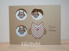 Kim Howard ROCKS the owls2love stamp set!  :)