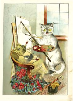 Artistic Pussy and Her Studio, Moving Pictures with Other Tales, a Moveable Toybook Dog Books, Moving Pictures, Princess Zelda, Studio, Dogs, Artist, Fictional Characters, Pet Dogs, Artists
