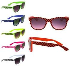 and yes I had every color of these very cool 80's sunglasses haha