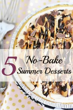 Looking for some summer dessert recipes that do not require an oven? Check out these 5 No-Bake Summer desserts that are perfect for your next BBQ. No Bake Summer Desserts, Sweet Desserts, Easy Desserts, Sweet Recipes, Delicious Desserts, Yummy Food, Tasty, Icebox Desserts, Summer Recipes
