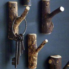 DIY~ Easy Twig Hook :: Cling mason jar lights, little flower pots, wreaths and so forth. DIY~ Easy Twig Hook :: Cling mason jar lights, little flower pots, wreaths and so forth. a lot of chance& . Hanging Mason Jar Lights, Mason Jar Lighting, Twig Crafts, Wood Crafts, Garden Crafts, Wreaths Crafts, Cabin Crafts, Decor Crafts, Diy Wood Projects