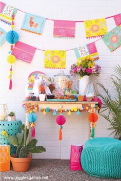Chicks and Churros Fiesta Party Plan your own Boho Fiesta Party for Cinco De Mayo or girls night!Plan your own Boho Fiesta Party for Cinco De Mayo or girls night! Festa Party, Diy Party, Ideas Party, Party Themes For Kids, Party Girl Quotes, Bd Design, Llama Birthday, Bachelorette Party Decorations, Decoration Party