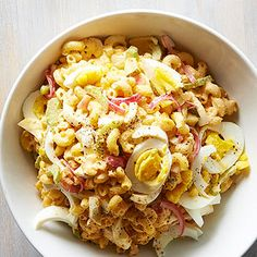 Deviled Egg Macaroni Pasta Salad From Better Homes and Gardens, ideas and improvement projects for your home and garden plus recipes and entertaining ideas.