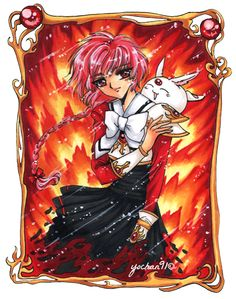 Hello art lovers it's been a while since i uploaded the las drawing Here i present a fan art that i made of two characters of the Clamp that i admire so. Magic knight Rayearth - Hikaru and Mokona Chise Hatori, Manga Anime, All Anime, Magic Knight Rayearth, Spice And Wolf, 90s Cartoons, Magical Girl, Lovers Art, Deviantart