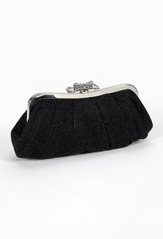 "Sparkle clutch bag features:• 22"" chainlink strap• Sparkle material• Inner pocket• Metal frame"