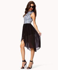 #Forever21                #Skirt                    #Denim #Vest #Combo #Skirt #FOREVER #2050826076     Denim Vest Combo Skirt | FOREVER 21 - 2050826076                              http://www.seapai.com/product.aspx?PID=53434