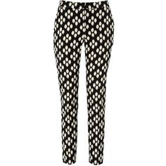 Hobbs Victoria Trousers, Black/New Pebble ($215) ❤ liked on Polyvore