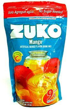 Buy Mango Flavor Drink Mix 14.1 oz at MexGrocer.com an online Mexican supermarket for Aguas Frescas. Horchata, Zuko, Fresco, Frozen Popsicles, Supermarket, Calcium Phosphate, Snack Recipes, Snacks, Aguas Frescas