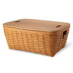 Lovin' the Small Laundry Basket with a lid
