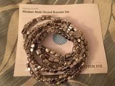 I love the edgy/boho combo of this bracelet! I'd love this in a fix. -E