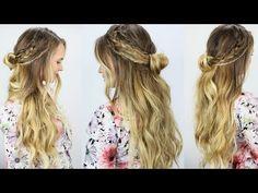 Easy Coachella Inspired Half Updo! My Coachella Hairstyles! - YouTube