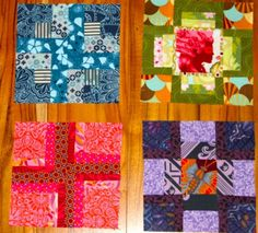 Crosses from Tula Pink's book 100 Modern Quilt Blocks.