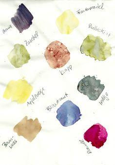 schaeresteipapier: Pflanzenfarben selber herstellen, Farben-Workshop