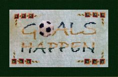 Chart Goals Happen Cross Stitch Design. by TurquoiseGraphics, $8.00