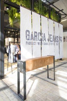 Garcia Jeans, retail design, interior design, booth, fair, CIFF Copenhagen, concept, design, production, installation, visual merchandising #fashion #urbanjungle