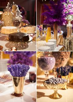 Forsgate country club venue pics purple gold napkins and factors yummy cakes purple rock candies and personalized mms you will never get bored with purple and gold weddingpurple junglespirit Image collections