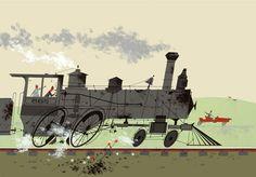 Bye Bye Steamer by Charley Harper