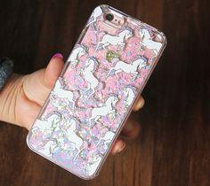 Unicorns Style Glitter Waterfall iPhone 6S/6 Case iPhone 6s/6 Plus Case