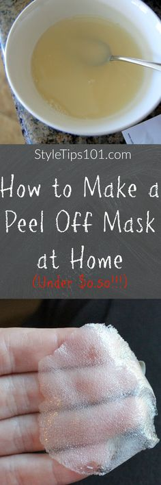 Gelatin + milk = instant peel off mask to remove blackheads, dirt, and impurities.