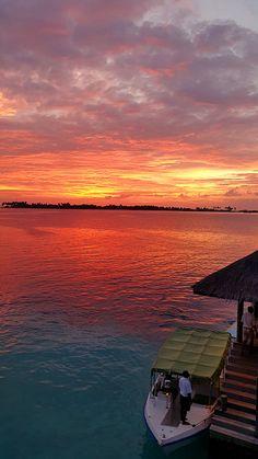 Glorious sunset at Six Senses Laamu Maldives. http://www.sixsenses.com/resorts/laamu/experiences
