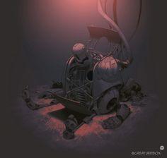 Damaged Robot (animated) on Behance