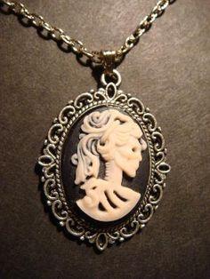 Light Lavender Skeleton Goddess Necklace in by CreepyCreationz