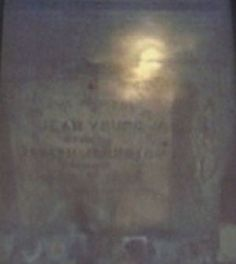 This face appeared on the tomb stone after the fil... - photo - Project: Paranormal