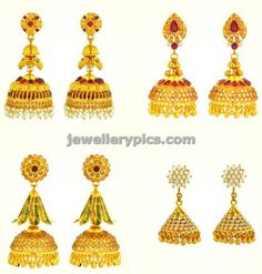 Joyalukkas gold jhumka new arrival designs ~ Gold Jewellery Designs