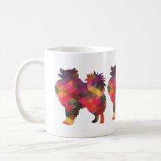 American Eskimo Dog Silhouette Designs Coffee Mug