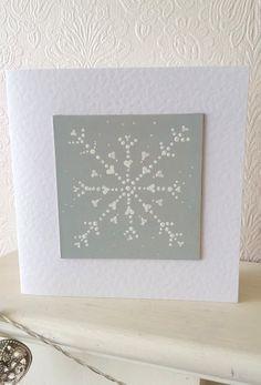 Handpainted christmas card - snowflake