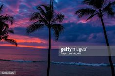 Stock Photo : Sunset over the Pacific Ocean off of Maui.