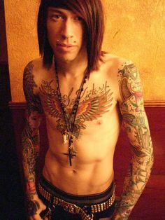 TRACE CYRUS tattoos and pictures. The webs' original & biggest list of celebs and tattooed historical figures, supermodels, sports and rock stars all with tattoos, lots of pictures! Trace Cyrus, Metro Station Band, Brenda Song, Emo Boys, Kinds Of Music, Pictures Images, Music Bands, Picture Tattoos, Hard Rock