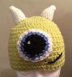 Available to buy from my Etsy shop https://www.etsy.com/uk/listing/216964064/hand-crocheted-one-eyed-monster-beanie