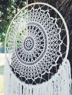 Capteur de rêve napperon napperon blanc Dream par OjibweShop Plus