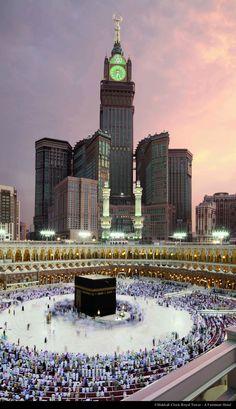 Abraj Al-Bait Towers in Mecca, Saudi Arabia, 601 m (2012).