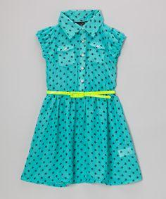 Black & Blue Polka Dot Belted Dress - Self Esteem