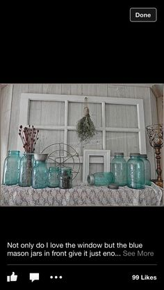 Window and jars