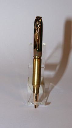 Bullet Pen, Woodland Camo, 30 caliber pen, Military pen, by DandHspecialties on Etsy $19.50