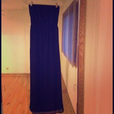 Strapless Black Maxi Dress